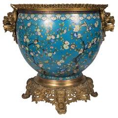 Large 19th Century Cloisonné Fish Bowl / Jardiniere