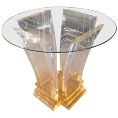 Unique Table Solid Acrylic Very Heavy Quality