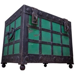 Antique 19th Century Strongbox, Key Included