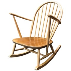 Windsor Rocking Chair by Lucian Ercolani for Ercol, Blonde, Elm and Beech