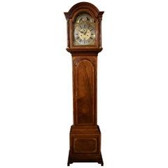 Arch Dial 8 Day Mahogany Longcase Clock, by Christopher Locket, Tetbury 18th C