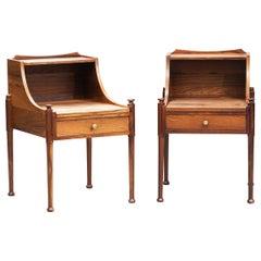 Danish Mid-Century Modern Rosewood Nightstands, One Pair