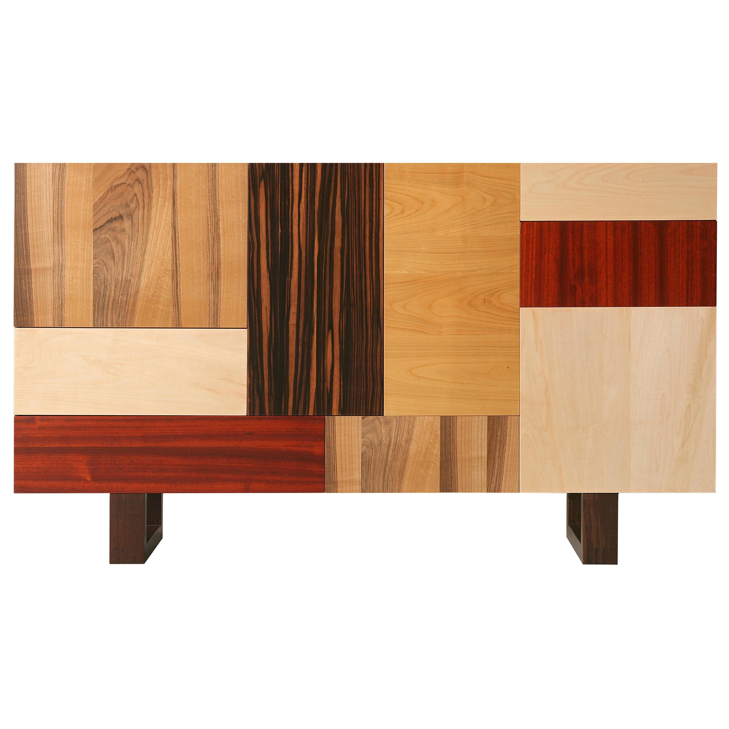 Fantesca by Moelato, Contemporary Sideboard Made with Wood Patchwork