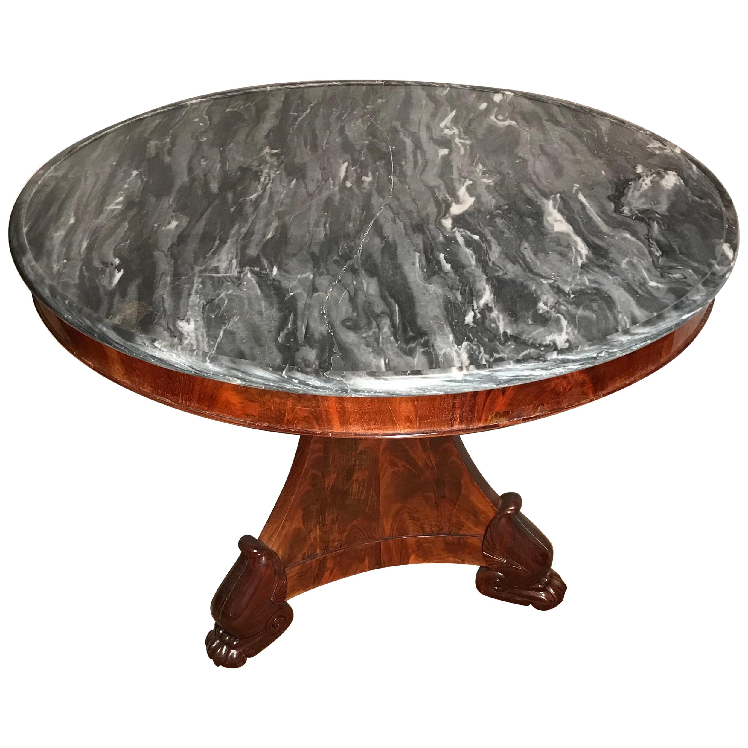 French Restauration Period Center Table, 1820