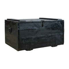 Antique Steamer Trunk, Wildman, British Vice-Consulate, Chile, Ships Chest