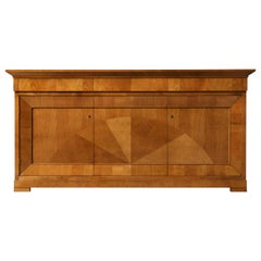 Contemporary Sideboard in Biedermeier Style, Made of Cherry Wood