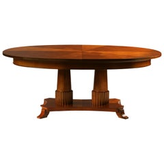 Contemporary extendable table in Biedermeier style made of cherry wood
