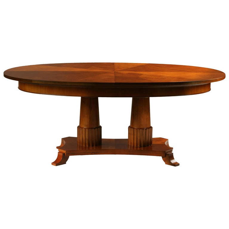 Contemporary extendable table in Biedermeier style made of cherry wood For Sale