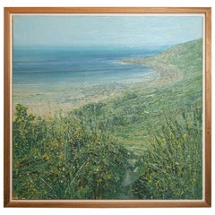 Seascape Painting of Cornwall by John Brenton, Oil on Canvas Board