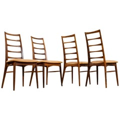 Mid-Century Modern Niels Kofoed Pau Ferro and Leather Dining Chairs Set of 4