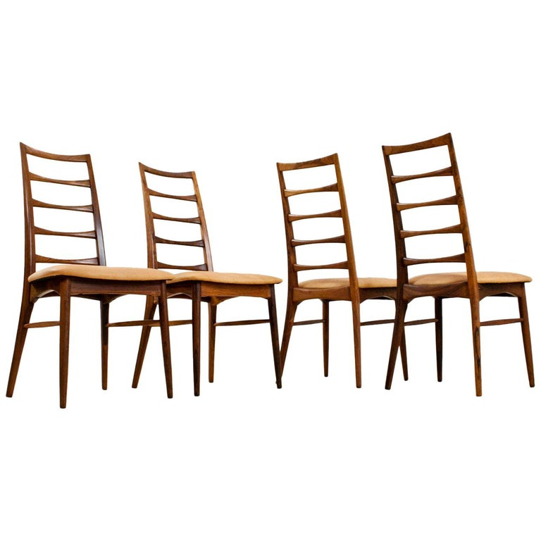 Outstanding Mid Century Modern Niels Kofoed Pau Ferro And Leather Dining Chairs Set Of 4 Short Links Chair Design For Home Short Linksinfo