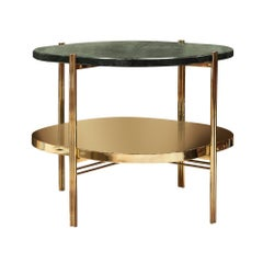 Guatemala Marble Side Table in Polished Brass