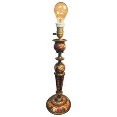 Antique Papier-mâché Gypsy Table Lamp