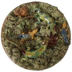 Mafra Palissy Majolica Lizard Wall Plate