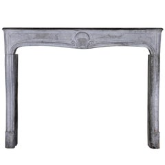 18th Century French Country Bleu Stone Regency Fireplace Surround