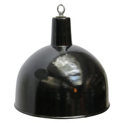 Black Enamel Vintage Industrial Factory Hanging Lights Pendants