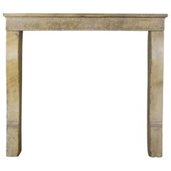 19th Century French Cosy Rustic Antique Limestone Fireplace Surround