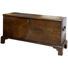 Mahogany Muniment or Deed Chest, Stamped 1844