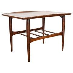 Mid-Century Modern Bassett Artisan Walnut Wood End Table