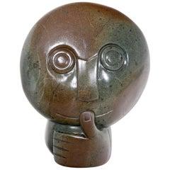 "Sculpture ""Thinking"", Simbabwe, Mucaera, circa 2000"