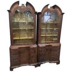 Pair of English Mahogany Cabinets, Sold as a Pair