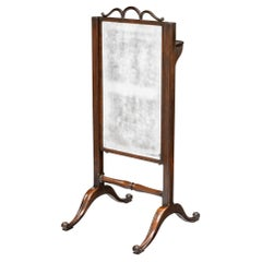 Irish Georgian Period Mahogany Cheval Mirror