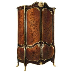Gilt-Bronze Mounted Marquetry Armoire by Joseph-Emmanuel Zwiener, circa 1880