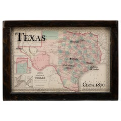 1870 Texas Map by Colton