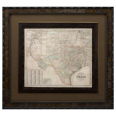 1882 Colton's 'New Medium' Map of the State of Texas, the Indian Territory, Etc