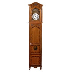French 19th Century Cherry Longcase Clock, Louis XV Style