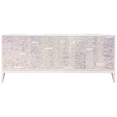 Customizable White Milano Buffet in Ravenna Glass Mosaic by Ercole Home
