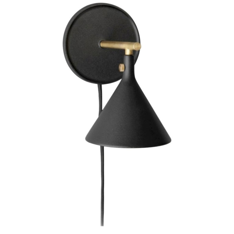 Cast Sconce Wall Lamp, Black by Thomas Chung & Jordan Murphy For Sale