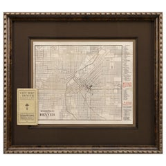 1905 Antique George Bell Co's. Guide Map of Denver