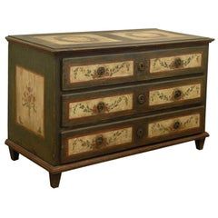 19th Century Painted Italian 3-Drawer Commode