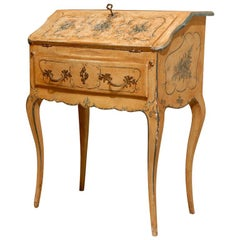 Early 19th Century French Slant Top Painted Desk Louis XV Style