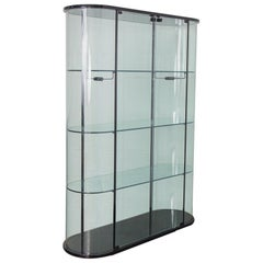 Pace Collection Tall Rounded Glass Cabinet Vitrine