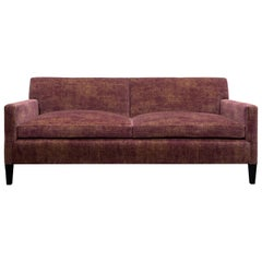T-Back Upholstered Sofa in Cotton Velvet, Vica designed by Annabelle Selldorf