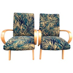 1960s Pair of Czech Republic Lounge Chairs Armchairs by Jaroslav Smidek for Ton