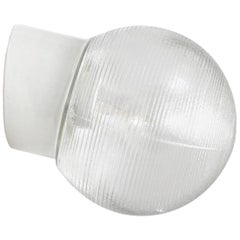 White Porcelain Vintage Industrial Holophane Glass Wall Lamps Scones (18x)