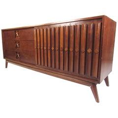 Midcentury Sliding Door Walnut Dresser