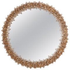 Outstanding Round Illuminated Palwa Crystal Glass Mirror, Model S104W