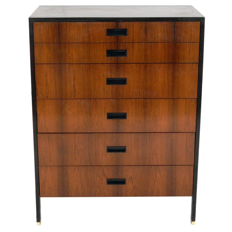 Harvey Probber Rosewood and Mahogany Chest  For Sale