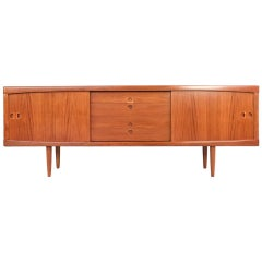 Midcentury Danish Sideboard in Teak by HW Klein for Bramin with Rounded Edges