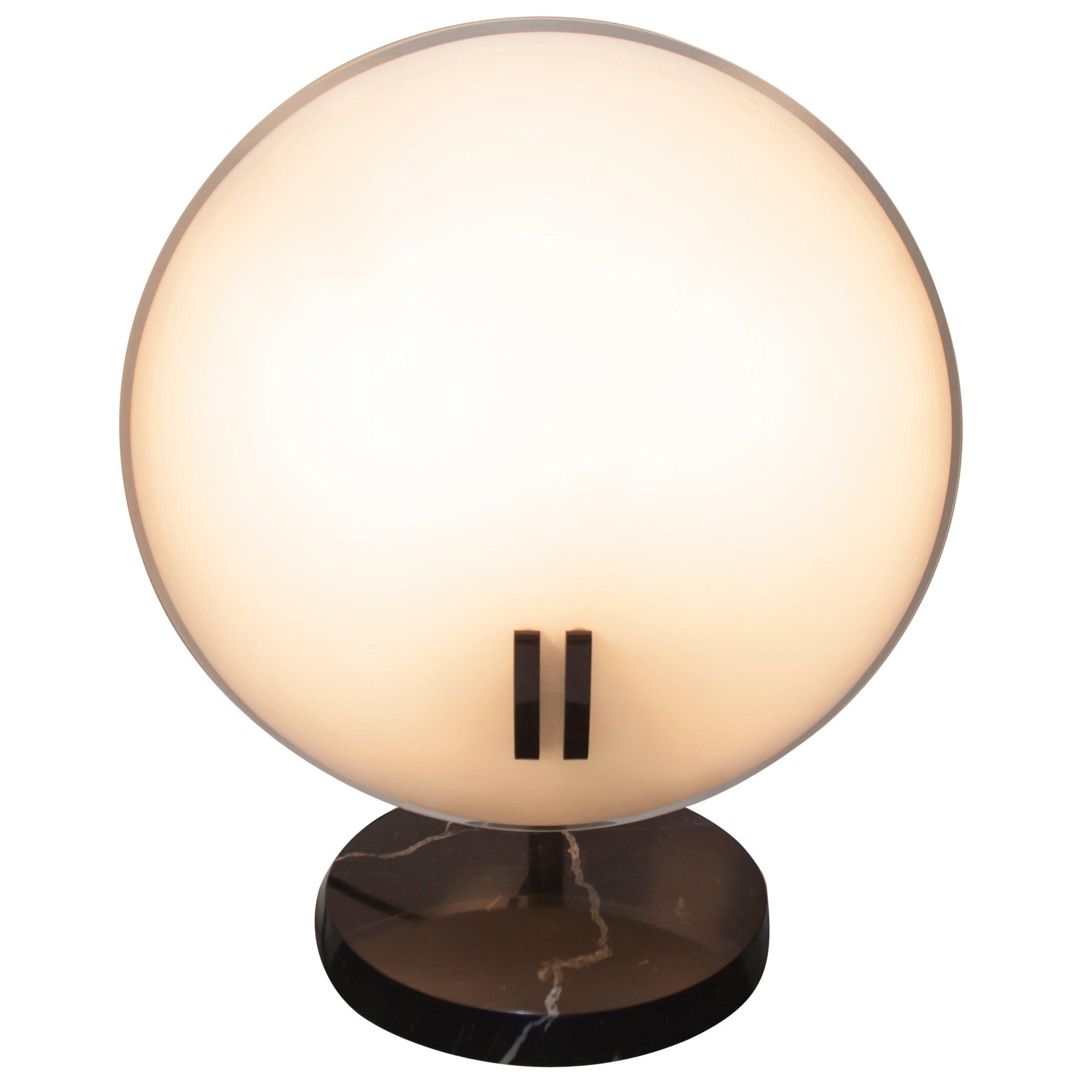 """Bruno Gecchelin Italian Table Lamp """"Perla"""" for Oluce, 1980s"""