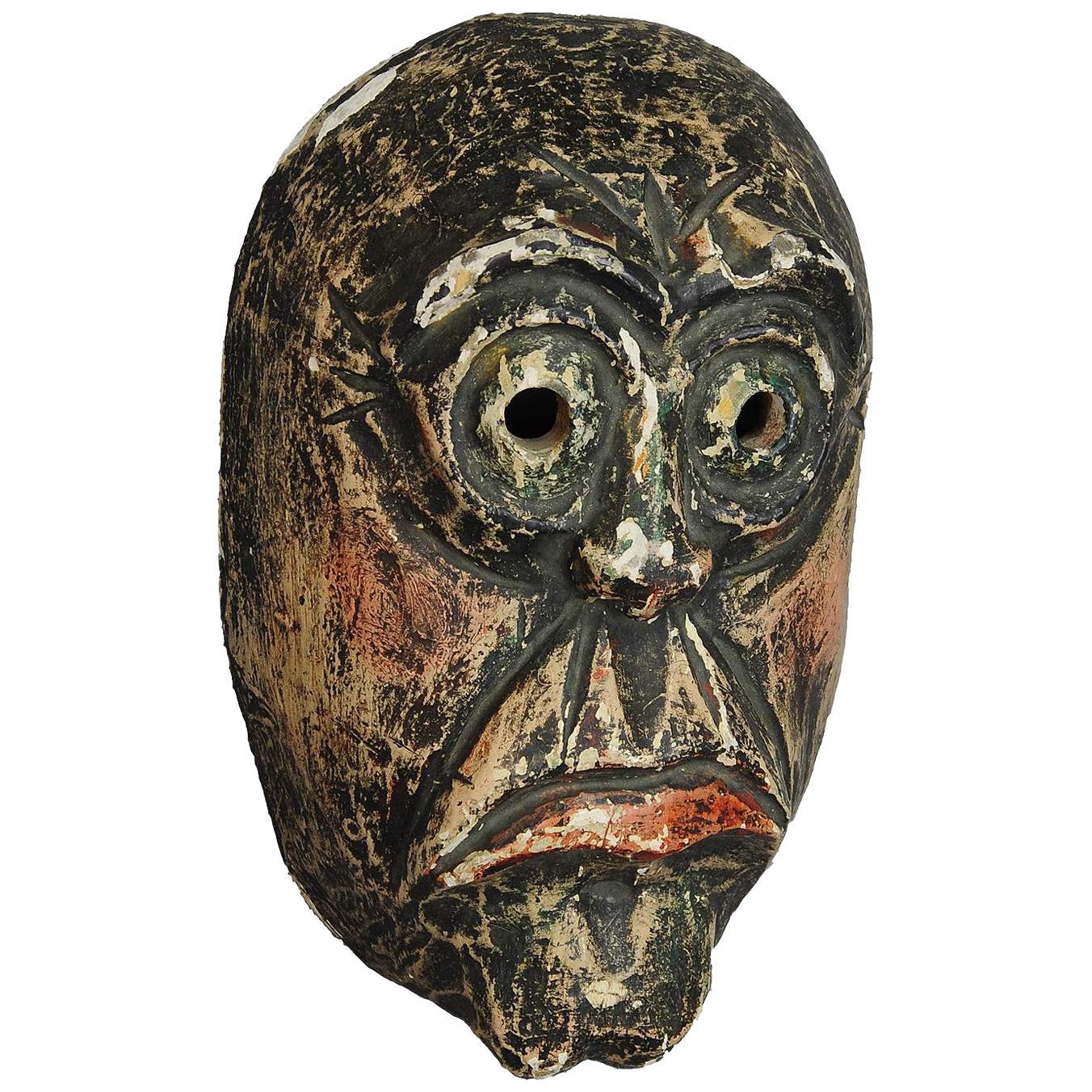 Traditional Handcarved and Painted Tyrolian Carnival Mask