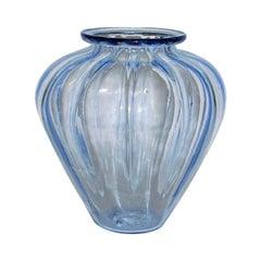 "Venini ""Costolato"" Ribbed Vases Attributed to Napoleone Martinuzzi, Pair"