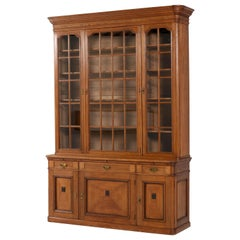 Dutch Oak Art Nouveau Library Bookcase by H. Pander & Zonen Den Haag, 1900s