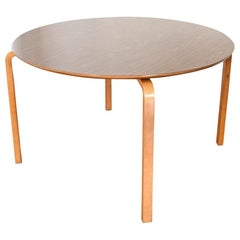 Midcentury Thonet Round Bentwood Dining or Conference Table, 1960s