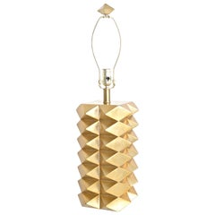 Parcel Gilded Geometric Form Table Lamp