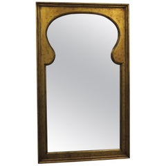 Large Vintage Arabesque Style Gold Leaf Wall Mirror